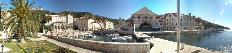 Panoramic view of Hvar